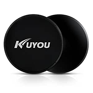 KUYOU Exercise Sliders,Professional Gliding Discs Multi-Function Core Sliders for Smooth Sliding On Carpet or Hardwood Floors - Small Fitness Equipment for Home Gym Travel