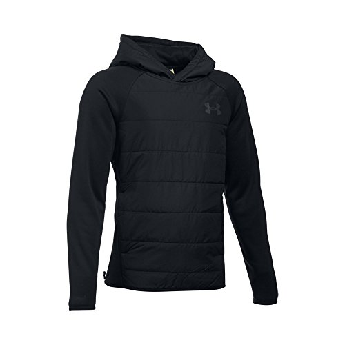 Under Armour Boys' Storm Insulated Pullover Swacket, Black/Black, Youth X-Large