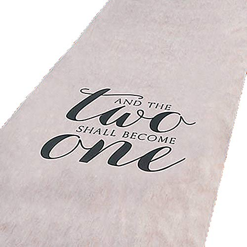 Wedding Runner - And The Two Shall Become One Wedding Aisle Runner 100 FT X 3 FT Wedding Aisle Decoration (White)