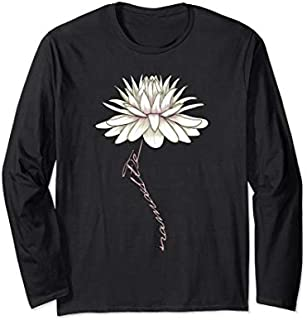 [Featured] Namaste White Lotus Water Lily Design for Yoga, Fitness Long Sleeve in ALL styles | Size S - 5XL