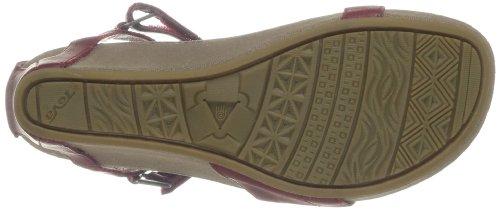 20 DECK. W Capri Wedge Capri Wedge W-W - Sandalias de cuero para mujer, color marrón, talla 37 Rojo (Rouge (Rhubarb))