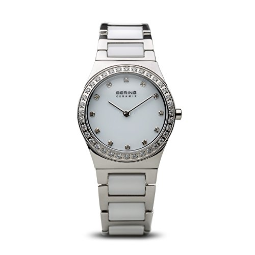 BERING Time 32430-754 Womens Ceramic Collection Watch with Stainless steel Band and scratch resistant sapphire crystal. Designed in Denmark.