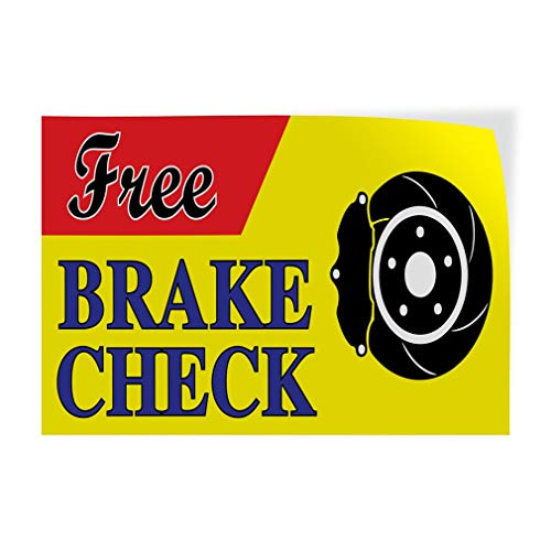 - Free Brake Check #1 Vinyl Decal Sticke Store Sign 14.5 x 36 inches