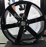 "22"" Inch U2 55 Black Wheels Rims Only |ASANTI LEXANI FORG..."