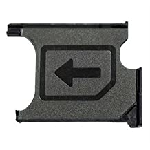 Micro SIM Card Tray Holder Slot Replacement For Sony Xperia Z1 / Z1 Compact Mini L39h Lh36i L39t C6903 C6902 M51w D5503 Black MMOBIEL