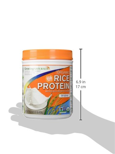 Growing Naturals Organic Rice Protein Powder, Original, 16.2 Ounce by Growing Naturals (Image #6)