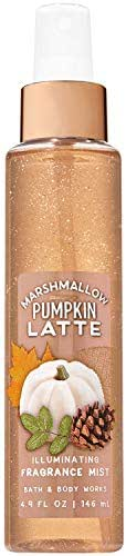 Bath and Body Works Marshmallow Pumpkin Latte Illuminating Fragrance Mist 4.9 Fluid Ounce