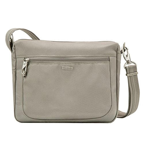 Travelon Anti-Theft Classic Small E/w Crossbody Bag, Stone
