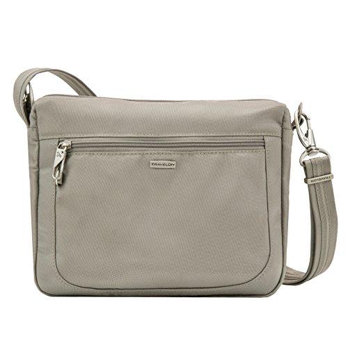 Travelon Anti-Theft Classic Small E/w Crossbody Bag, Stone