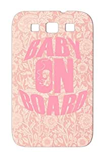 Baby On Board Skid-proof For Sumsang Galaxy S3 Pink Born Family Funny Fetus Birth Baby Board Pregnancy Pregnancy Family Sex Protective Case