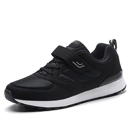 Hasag Zapatillas Antideslizantes Femeninas de Primavera y Verano Zapatos de Madre de Fondo Suave Zapatos de Viaje de Ocio Zapatos Netos Transpirables A2 black