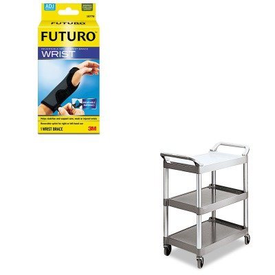 KITMMM10770ENRCP342488PM - Value Kit - Rubbermaid Platinum Light Duty Utility Cart (RCP342488PM) and Futuro Adjustable Reversible Splint Wrist Brace (MMM10770EN) by Rubbermaid