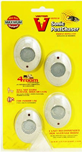 Victor M754 Mini PestChaser Ultrasonic Rodent Repellent, 4-Pack  40;not available in HI or NM41;