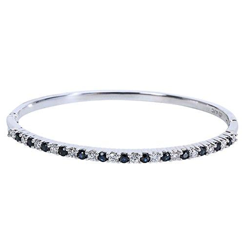 Diamond & Sapphire Bangle Bracelet - 9