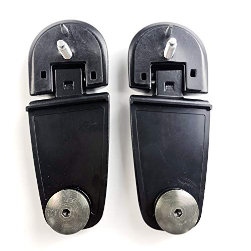 JSD Pair Rear Lift Gate Window Glass Hinges for Ford Explorer Mountaineer Right & Left 6L2Z78420A68AA 6L2Z78420A69AA ()