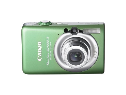 Digital Zoom 2.5 Inch Lcd - Canon PowerShot SD1200IS 10 MP Digital Camera with 3x Optical Image Stabilized Zoom and 2.5-inch LCD (Green)