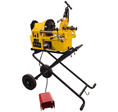 Steel Dragon Tools 7090 Pro Pipe Threading Machine with Cart fits RIDGID 811A Die Head ()