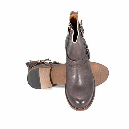 Womem Sneaky cuero Boots Liard Charcoal de W zapatos Steve cHAv8WHqY