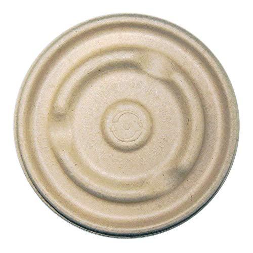 Bbl Barrel - World Centric BBL-SC-U12 100% Compostable Unbleached Plant Fiber Soup Barrel Bowl Lids, 8-16 oz. (Pack of 500)