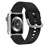 Lwsengme Compatible with Apple Watch Band 38mm 42mm Series 3/2/1 40mm 44mm Series 4, Soft Rubber Sport Accessories iWatch Bands
