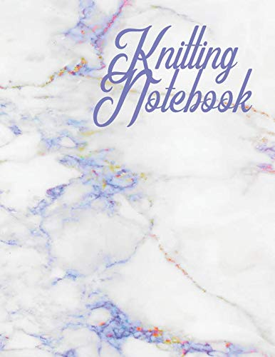 Knitting Notebook: 100 Pages 4:5 Knitting Graph Paper & Lined Note Paper : Large 8.5 x 11 (Needles Knitting Marble)