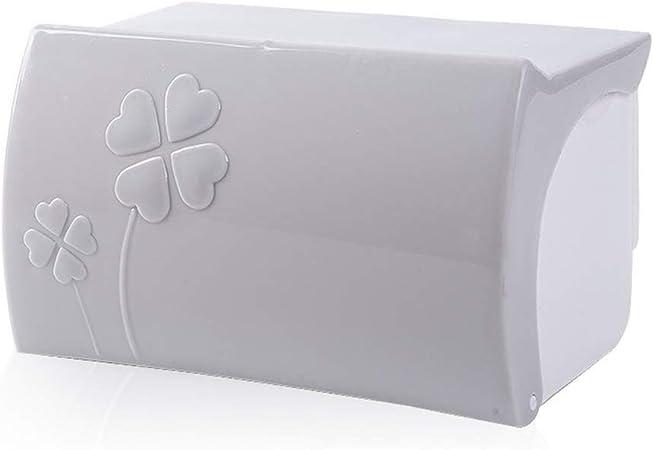 WNTHBJ Soporte para Toallas De Papel con Bandeja De Mano, Caja De Pañuelos De Plástico Impermeable Sin Perforaciones, Dispensador De Papel Plegable, Adecuado para El Hogar, El Baño,Gris: Amazon.es: Hogar