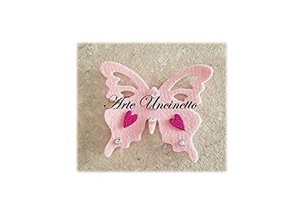 Arte Uncinetto Bomboniere Nascita Farfalla Con Calamita Lotto 50