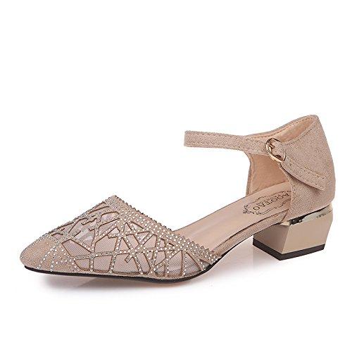 Chaussures Beige Et Femmes Yalanshop Pour Respirantes Creuses Hautes Vides 19 8qxndw