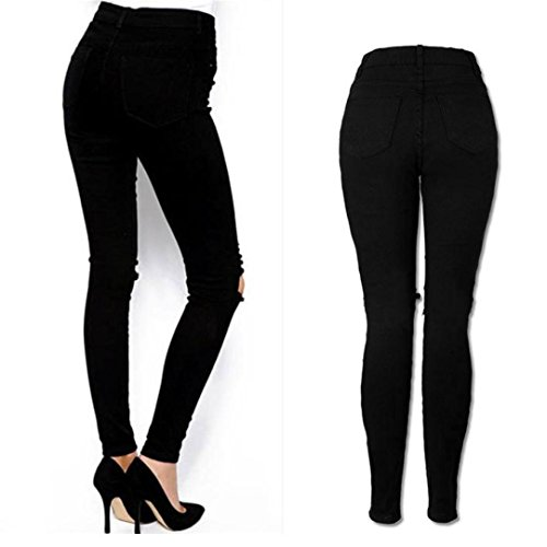Donna Strappati Donna Pantaloni Donna Jeggings da Strappati Pantaloni Luoluoluo Elasticizzati A Jeans da Skinny ERwqngAxF
