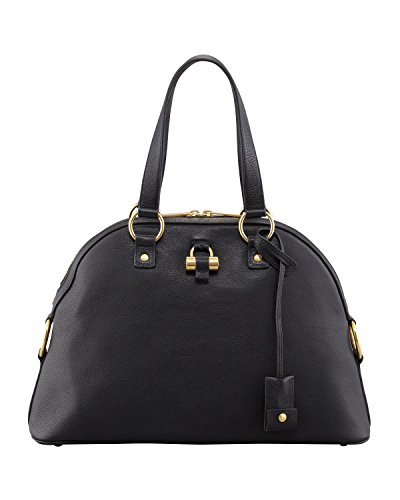Yves Saint Laurent YSL Muse Medium Black Leather Handbag 368224