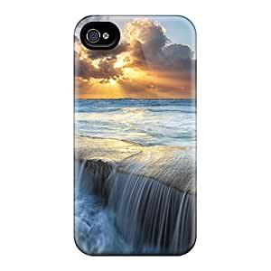For SashaankLobo Iphone Protective Cases, High Quality For Iphone 6 Wondrous Sunset On Seascape Skin Cases Covers