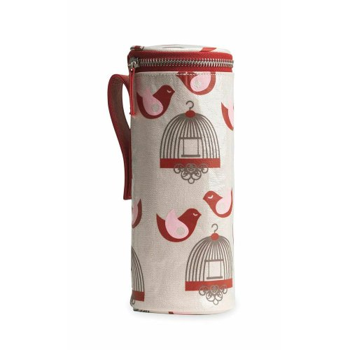 Apple & Bee Baby Bottle Holder, Finches