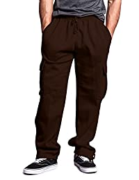 G-Style USA Men's Solid Fleece Cargo Pants