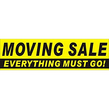 amazon com 3ftx10ft moving sale everything must go banner sign