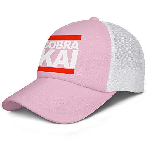 SHTHYTS Womens White-Cobra-Kai-Run-Logo-Adjustable Snapback Hats Cozy Hunting Trucker Dad Baseball Caps -
