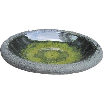 Tierra Garden 4 8184T Gloss Bird Bath Bowl With Matte Rim, Light Green