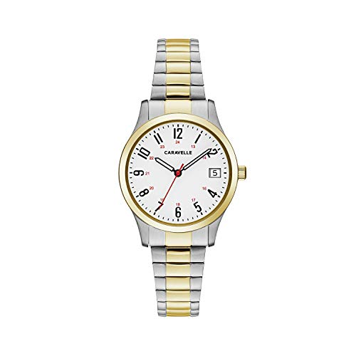 (Caravelle Women's Quartz Watch with Stainless-Steel Strap, Two Tone, 15 (Model: 45M111))