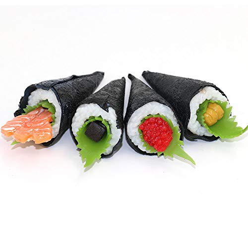 (Nice purchase Artificial Sushi Fake Food Simulation Realistic Lifelike Nigiri Onigiri Dessert for Decoration Display Toy Props Model Temaki Sushi)