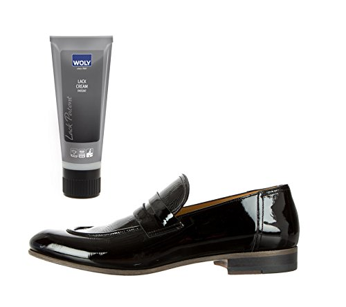 woly black patent leather dye and cleaner lack that