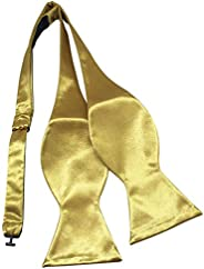 Mens Adjustable Self-Tie Classic Plaid/Stripe Woven Cotton Bow Ties