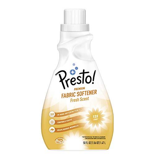 Amazon Brand - Presto! Concentrated Fabric Softener, Fresh Scent, 125 Loads, 50 Fl Oz