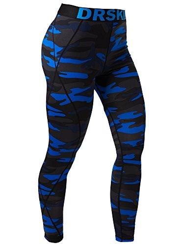 DRSKIN Men's Compression Dry Cool Sports Tights Pants Baselayer Running Leggings Yoga (DMBU07, M)