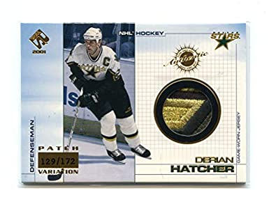 2000-01 Private Stock Game Gear Jersey Patches #35 Derian