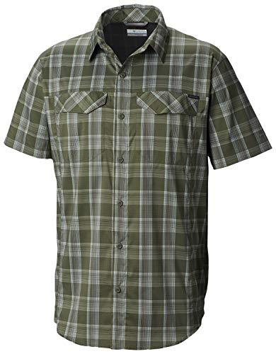 Columbia Men's Silver Ridge Lite Plaid Short Sleeve, Cypress Buff Check, Medium