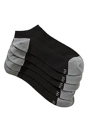 Hanes Men's Cotton Blend Trainer Socks (5 Pack), Black, 11+