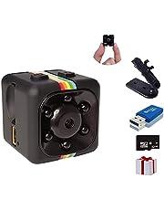 SpyCamera, Papakoyal HiddenCamera Mini Camera HD 1080P/720PSpy Cam WirelessSmallPortable Night Vision Motion Detection for Home, Car, Drone, Office with 32GBCard & Card Reader