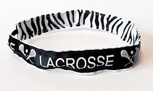 Lacrosse Ribbon Stretch Reversible Sports Elastic Headband Zebra