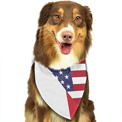 - CWWJQ88 Italian USA Friendship Flag Pet Dog Bandana Triangle Bibs Scarf - Easy to Tie On Your Dogs & Cats Pets Animals - Comfortable and Stylish Pet Accessories