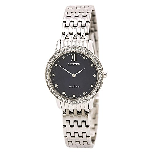 Citizen Watches Women's EX1480-58L Eco-Drive Silver Tone Watch
