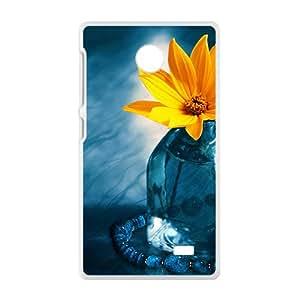 Yellow Flowers White Phone Case for Nokia Lumia X